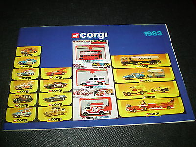 Corgi Toy Catalogue 1983 Uk Edition Excellent Condition For Age
