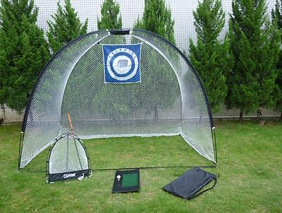 NEW 3 in 1 Golf Practice Set Mat Driving Chipping Net