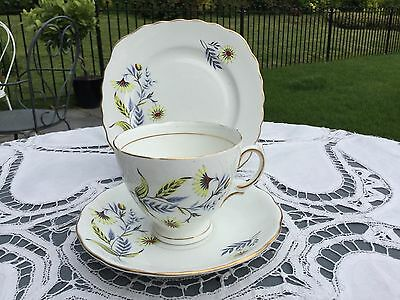 royal vale tea set trio, cup, saucer, plate