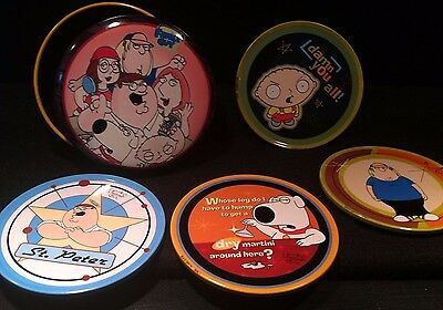 Family Guy Set Of 4 Coasters In A Tin - 2004