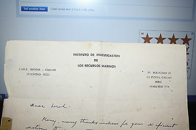 PERU POLITICAL PRISONER  MANUSCRIPT LETTER SUPERB To research 1954