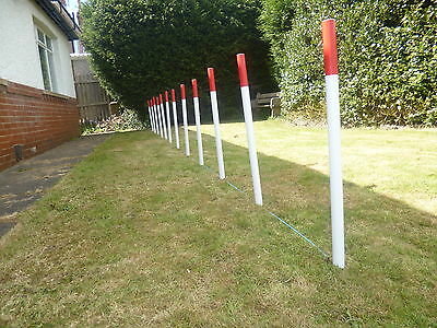 dog agility 12 PVC Training obedience equpment Weave Poles with KC spacer