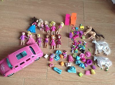 +++ Lot Polly Pocket 11 Figurine Voiture 3 Chevaux