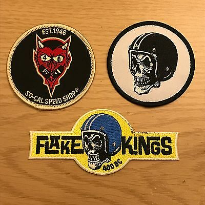 Hot Rod Sew on Patches ,so-Cal Speed Shop , Flake Kings