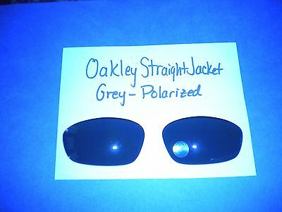 Authentic Oakley Straight Jacket Sunglass Replacement Lenses - Grey- Polarized