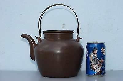 Large Antique Chinese Marked Yixing Pottery Teapot