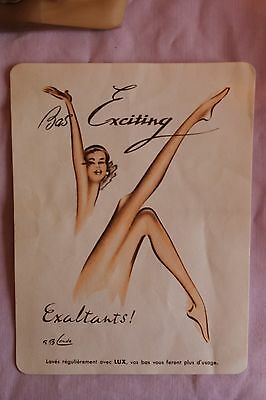 2 Pairs of Bas Exciting vintage seamed stockings, size 9 1/2.