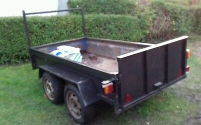 8x4 plant trailer twin axel steel not ifor williams