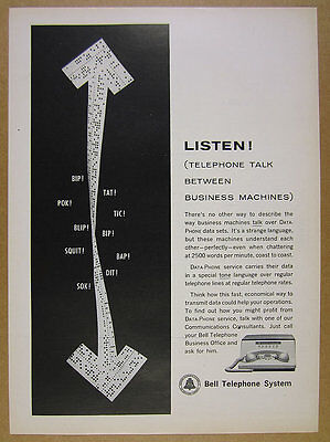 1962 Bell Telephone System DATA-PHONE Service vintage print Ad