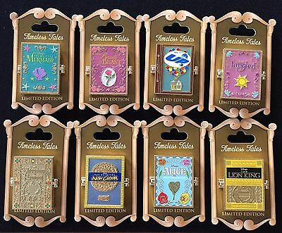 Disney Timeless Tales Pin Set Ariel Belle Rapunzel Alice Disney Exclusive Le (8)