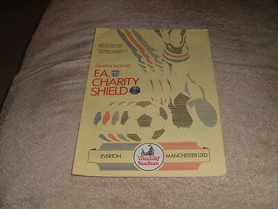 EVERTON v MANCHESTER UNITED FS Charity Shield Wembley 19th August 1985