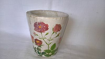 Vintage French Hand Painted Pottery  Pot