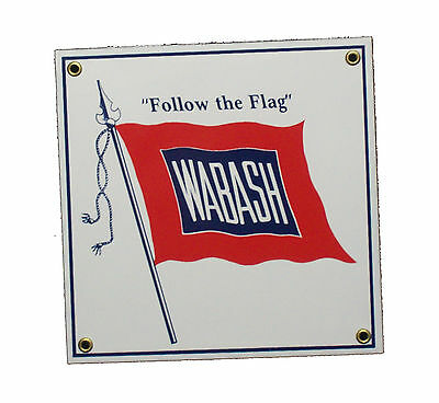 Wabash Railroad Porcelain Sign #57-1500