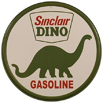 Sinclair Dino Gasoline Round Retro Vintage Tin Sign