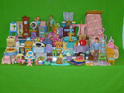 Huge Fisher-Price Loving Family DOLLHOUSE LOT Furniture People Accessories 70pc