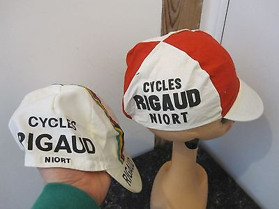 Ancienne casquette de cycliste vélo cycles Rigaud NIORT collection