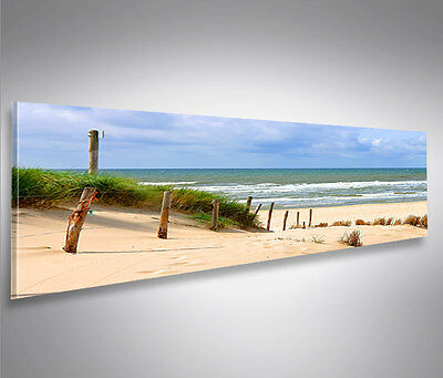 weg zum meer nordsee strand panorama format bild auf leinwand wandbild poster eur 39 90. Black Bedroom Furniture Sets. Home Design Ideas