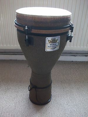 Remo Earth Djembe Drum with Synthetic head and stagg gig bag