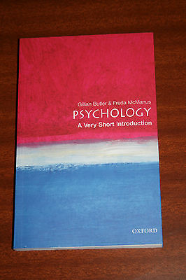 Psychology: A Very Short Introduction by Gillian Butler, Freda McManus...