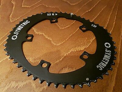 Osymetric Road Outer Chainring Shimano/SRAM  Black 130 BCD 52 Tooth