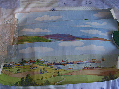 1960's, 4 X OO Scale Background Scenic Effects. Master Production, B J Ward Ltd.