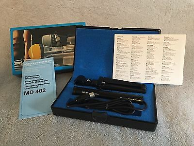 Vintage SENNHEISER MD 402 LM Super Cardioid Microphone BOXED