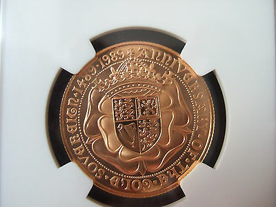 1989 Tudor Rose Gold Proof Two Pound £2 Double Sovereign Ngc Pf69  Ultra Cameo