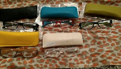 5 pairs of reading glasses by hummingbird, 1.5 magnification, new.