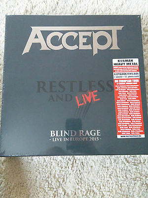 Accept - Restless and Live Exclusive Red White Vinyl Box 300 worldwide  NEW
