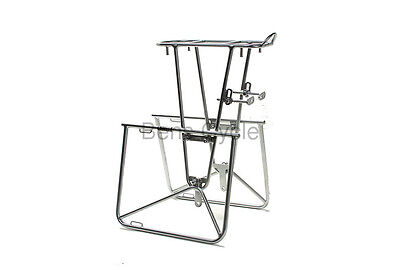"Nitto Campee Rear Rack 26"" Chrome-plated Pannier Support Touring Bike NEW"