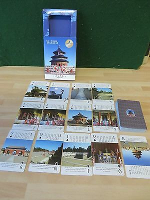 Chinese TEMPLE OF HEAVEN Playing Cards  souvenir cards from BEIJING 2000?