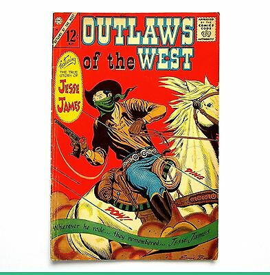 Outlaws of the West  Vol.2 No.58 April/May 1966 Charlton Comics *Silver Age