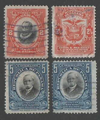 Panama. 1909 -1916 State Symbols and Personalities. Cancelled