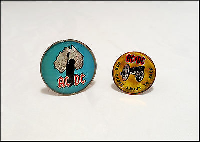 AC/DC 80's Lot Of 2 Prism Pins / For Those About To Rock / Angus Young