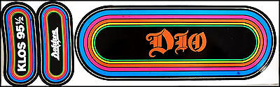 Ronnie James DIO Dokken 80's LA Radio KLOS Rainbow Concert Bumper Stickers