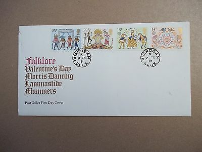 Folklore First Day Cover Envelope 6th Feb 1981 datestamp RUARDEAN Glos