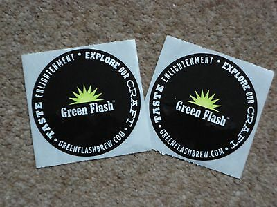Green Flash Brewing Company Stickers x 2 - US Craft Beer