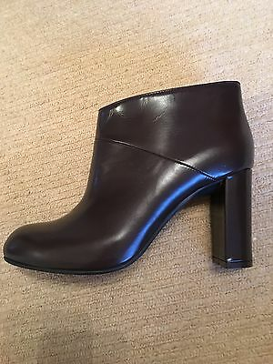 NEW Marni Brown Leather Ankle Boots Size 40 (UK 7)