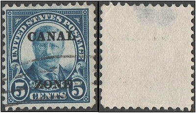 Panama. Canal Zone. 1924 -1933 Personalities- USA General Issues. 5c.  Cancelled