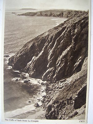 1950/60s postcard -Sark, Channel Islands - the Cliffs -in sepia by Salmon