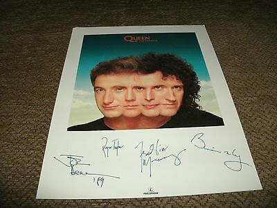 "Queen-The Miracle 10"" X 8"" Photo Signed In Print"
