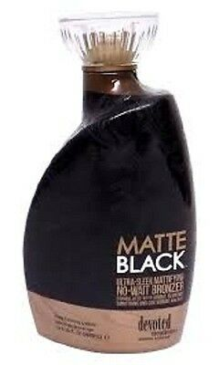 Brand New DEVOTED CREATIONS DC Matte Black 13.5 oz. Tanning lotion
