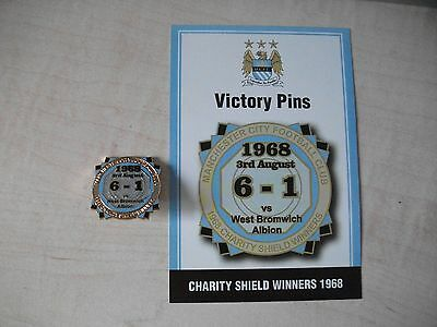 Manchester City FC Victory Pin Charity Shield Winners 1968