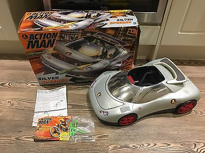 Action Man Silver Speeder Car With original box And Instructions,vintage