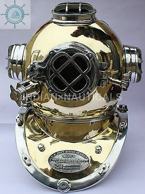 Diving  Mark V Diving Divers Helmet Aluminium & Brass Made Full Size
