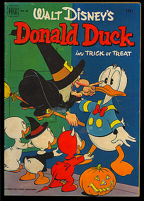 Donald Duck #26 (#1) Nice First Non Four Color Issue Carl Barks Art Dell 1952 VG