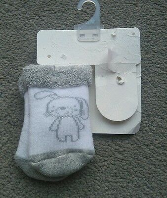 New Mamas & Papas Pair Of Baby's Cute Bunny Rabbit Socks 3-6 Months