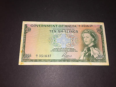 Malta Bank 1973 Note Issued By The Governmet Of Malta