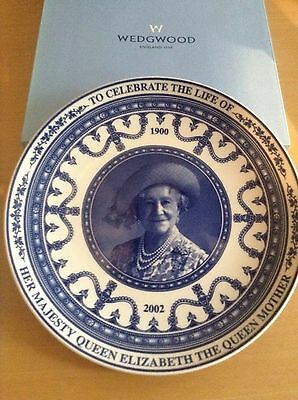 Wedgwood Plate To Commemorate The Life Of The Queen Mother New