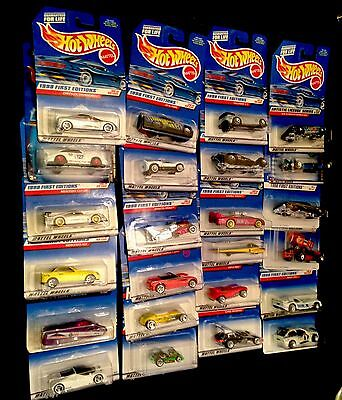 Mattel Hot Wheels Diecast Cars Lot Of 24 No Duplicates Sealed On Cards